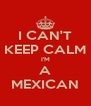 I CAN'T KEEP CALM I'M A MEXICAN - Personalised Poster A4 size
