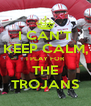I CAN'T KEEP CALM, I PLAY FOR THE TROJANS - Personalised Poster A4 size