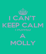 I CAN'T  KEEP CALM I POPPED A MOLLY - Personalised Poster A4 size
