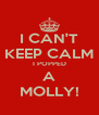 I CAN'T KEEP CALM I POPPED A MOLLY! - Personalised Poster A4 size