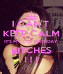I CAN'T  KEEP CALM IT'S MY 21ST BIRTHDAY  BITCHES ! ! ! - Personalised Poster A4 size