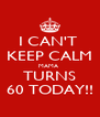 I CAN'T  KEEP CALM MAMA  TURNS 60 TODAY!! - Personalised Poster A4 size