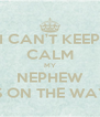 I CAN'T KEEP CALM MY NEPHEW IS ON THE WAY - Personalised Poster A4 size