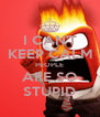 I CAN'T KEEP CALM PEOPLE ARE SO STUPID - Personalised Poster A4 size