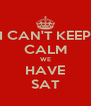 I CAN'T KEEP CALM WE HAVE SAT - Personalised Poster A4 size