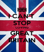 I CAN'T  STOP LOVING GREAT BRITAIN - Personalised Poster A4 size