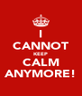 I CANNOT KEEP CALM ANYMORE! - Personalised Poster A4 size