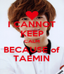 I CANNOT KEEP CALM BECAUSE of TAEMIN - Personalised Poster A4 size