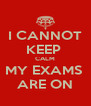 I CANNOT KEEP  CALM MY EXAMS  ARE ON - Personalised Poster A4 size