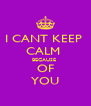 I CANT KEEP  CALM  BECAUSE  OF YOU - Personalised Poster A4 size