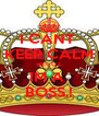 I CANT  KEEP CALM BECUZ IM A  BOSS.! - Personalised Poster A4 size