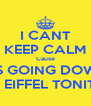 I CANT KEEP CALM Cause ITS GOING DOWN at EIFFEL TONITE - Personalised Poster A4 size