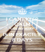 I CANT KEEP CALM CUZ MY BDAY IS IN EXACTLY 8 DAYS - Personalised Poster A4 size