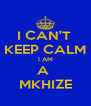 I CAN'T  KEEP CALM I AM A  MKHIZE - Personalised Poster A4 size