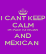 I CANT KEEP CALM IM PUERTO RICAN AND MEXICAN  - Personalised Poster A4 size