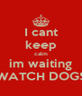 I cant keep calm im waiting WATCH DOGS - Personalised Poster A4 size