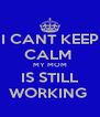 I CANT KEEP CALM  MY MOM IS STILL WORKING  - Personalised Poster A4 size