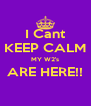 I Cant KEEP CALM MY W2's ARE HERE!!  - Personalised Poster A4 size