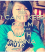 I CANT KEEP CALM WHEN IM WITH SARINA - Personalised Poster A4 size
