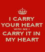 I CARRY  YOUR HEART WITH ME I  CARRY IT IN  MY HEART - Personalised Poster A4 size