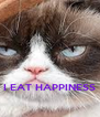 I EAT HAPPINESS - Personalised Poster A4 size