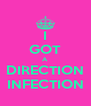 I GOT A DIRECTION INFECTION - Personalised Poster A4 size