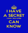 I HAVE A SECRET THAT NO-ONE CAN KNOW - Personalised Poster A4 size