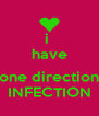 i  have  one direction INFECTION - Personalised Poster A4 size