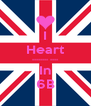 I Heart -------- ---- In 6B - Personalised Poster A4 size