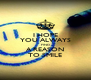 I HOPE YOU ALWAYS FIND A REASON TO SMILE - Personalised Poster A4 size