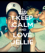I KEEP CALM AND LOVE JELLIE - Personalised Poster A4 size