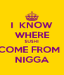 I  KNOW WHERE $U$HI COME FROM   NIGGA - Personalised Poster A4 size