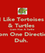 I Like Tortoises  & Turtles  Liam Has A Turtle  From One Direction  Duh.  - Personalised Poster A4 size