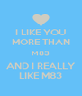 I LIKE YOU MORE THAN M83 AND I REALLY LIKE M83 - Personalised Poster A4 size
