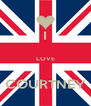 I  LOVE  COURTNEY - Personalised Poster A4 size