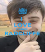 I  LOVE DANIEL  RADCLIFFE  - Personalised Poster A4 size