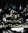 I LOVE HOUSE MUSIC SekoThaDeejay - Personalised Poster A4 size