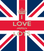 I LOVE JAMES LOTS  - Personalised Poster A4 size