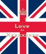 I Love  Jls  Xxxxxxxxx  - Personalised Poster A4 size