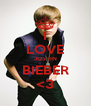 I LOVE JUSTIN BIEBER <3 - Personalised Poster A4 size