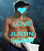 I LOVE  JUSTIN BIEBER - Personalised Poster A4 size