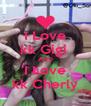 I Love kk Gigi  AND I Love kk Cherly - Personalised Poster A4 size