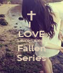 I  LOVE Lauren Kate : Fallen Series - Personalised Poster A4 size