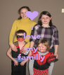 i love  my familly - Personalised Poster A4 size