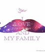 I LOVE MY FRIENDS AND MY FAMILY - Personalised Poster A4 size