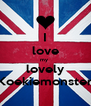 I love my  lovely Koekiemonster - Personalised Poster A4 size