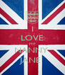 I LOVE MY NANNY  JANE  - Personalised Poster A4 size