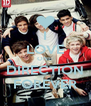 I LOVE ONE  DIRECTION FOREVER - Personalised Poster A4 size