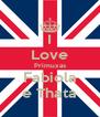 I Love Primuxas Fabiola e Thata - Personalised Poster A4 size