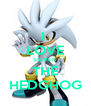 I  LOVE SILVER THE HEDGHOG - Personalised Poster A4 size